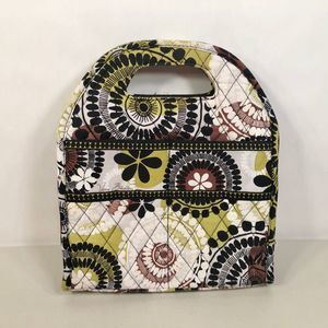 Vera Bradley Cocoa Moss Lunch Bag Insulated Floral